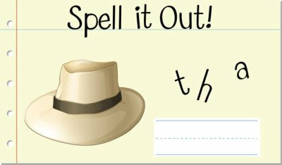 Spell it out hat