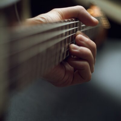 Fototapete Spielen elektrische Gitarre