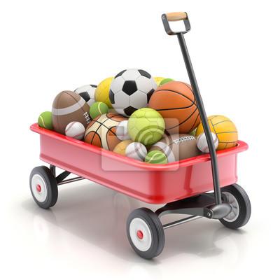 Spielzeug Mini-Wagen des Spielzeugs mit Sportbällen