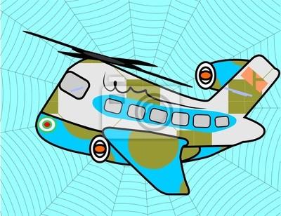 Spinne Flugzeug
