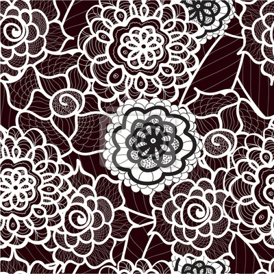 Spitze Nahtlose Muster Mit Abstrakten Elementen Vector Floral