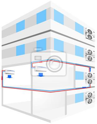 Split einheit schema bei gebäude fototapete • fototapeten ...