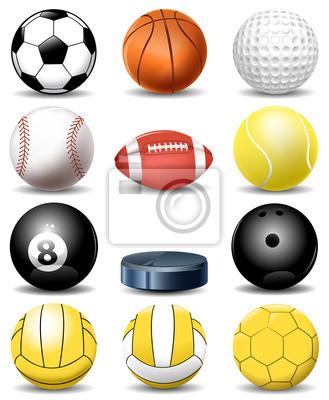 Sport-Ball-Sammlung