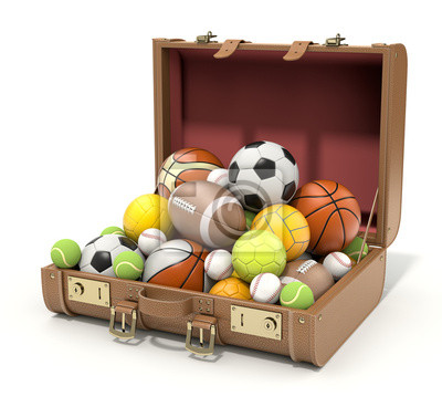 Sport Bälle im Fall