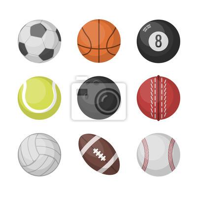 Sport bälle vektor-set. basketball, fußball, tennis, fußball ...