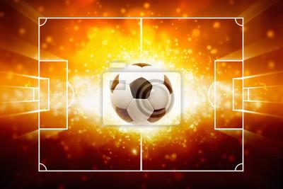 Sport Hintergrund - brennenden Fußball