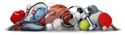 Fototapete Sport Objects