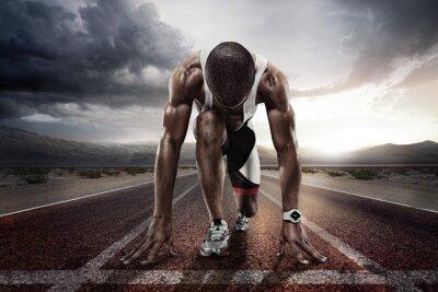 Fototapete Sport. Startläufer.