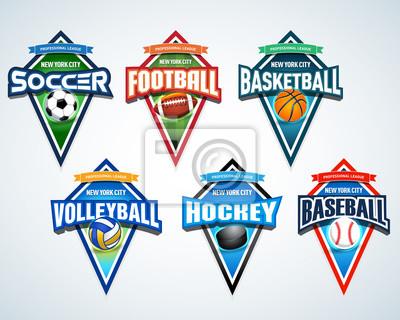 Sport team logo embleme, abzeichen, wimpel, t-shirt bekleidung ...