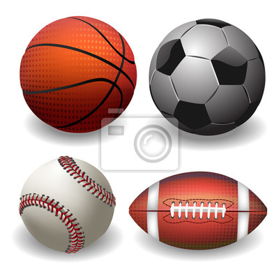 Sports Balls. isolated on whire