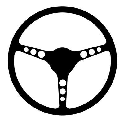 Sports Steering Wheel Silhouette