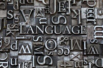 Fototapete Sprache
