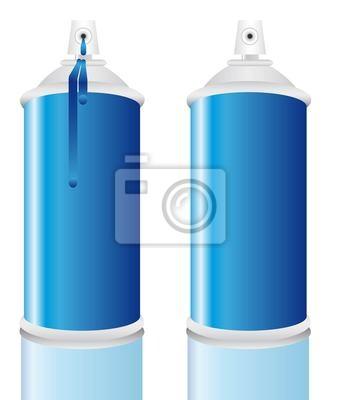 Spray Flasche blau