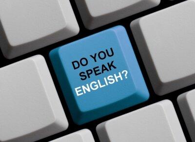 Fototapete Sprechen Sie Englisch? Sprechen Sie englisch?