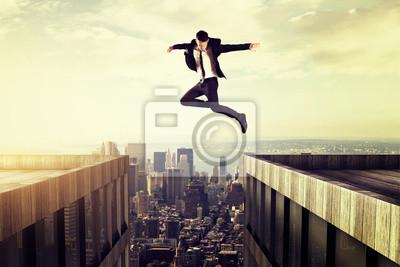 Fototapete springen