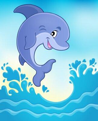 Fototapete Springen Delphin Thema Bild 6