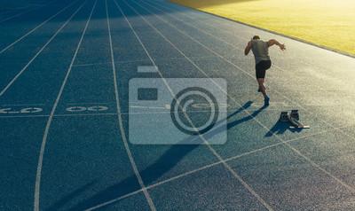 Fototapete Sprinter läuft auf Kurs