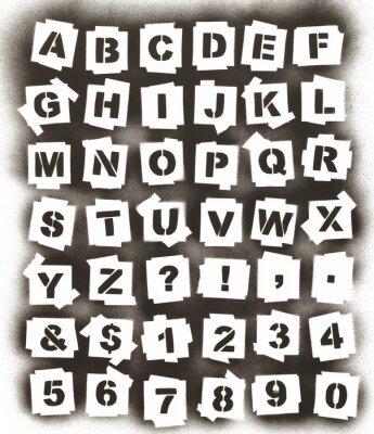 Sprühfarbe Alphabet