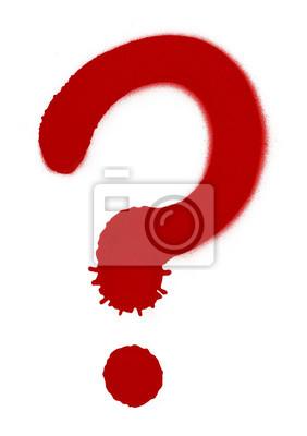 Sprühfarbe Question Mark
