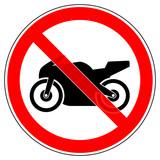Motorradfahren Verboten