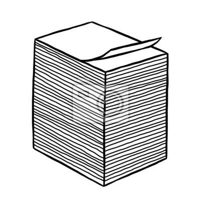 Fototapete stack of white paper