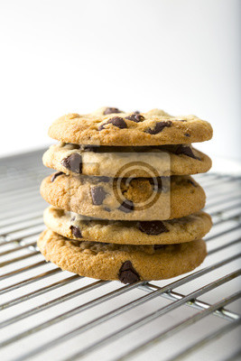 Stacked Chocolate Chip Cookie und Abkühlende Zahnstange
