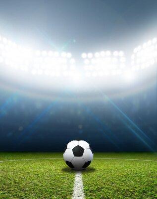Fototapete Stadion und Fußball