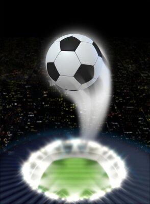 Fototapete Stadium Nacht Mit Ball Swoosh