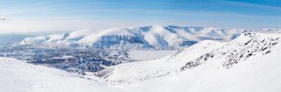 Fototapete Stadt in den nördlichen Bergen