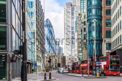 Fototapete Stadtansicht von London um Liverpool-Straßenstation