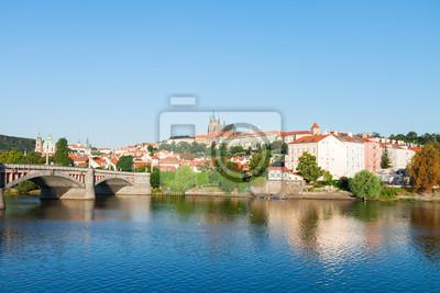 Fototapete Stadtbild von Prag mit Vitus Kathedrale
