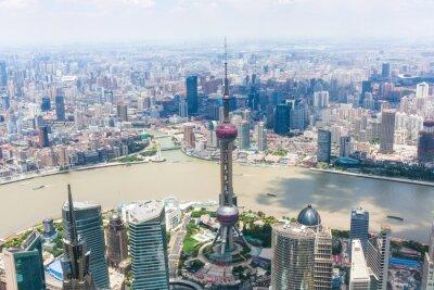 Fototapete Stadtbild von Shanghai