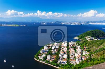 Stadtteil Urca Und Zuckerhut In Rio De Janeiro Brasilien Fototapete