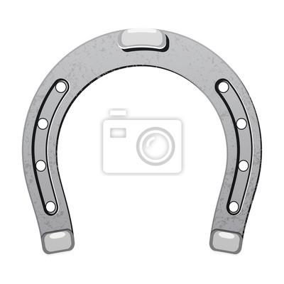 Stahl metall hufeisen glück symbol glück talisman isoliert symbol ...