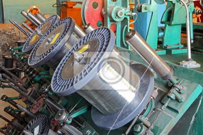 Stahldraht spulen von braiding machine.flexible metallschlauch ...
