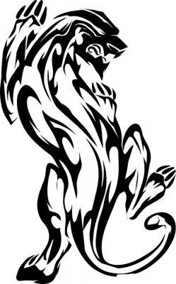 Stammes-panther Entwurf für Tätowierung