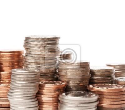 Stapel Der Münzen Britische Währung Fototapete Fototapeten Pence
