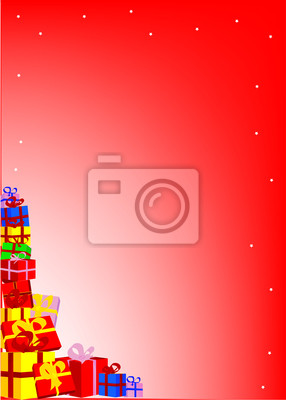 Stapel der Weihnachtsgeschenke