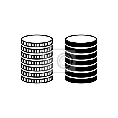 Stapel Von Münzen Stapelmetallmünzen Mit Verschiedenen Kanten
