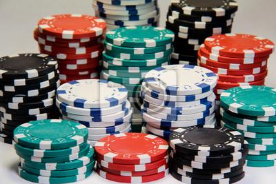 Stapel von Poker-Chips