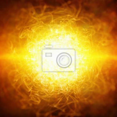 Starke rote Explosion, konzentrierte Energie, glühendes Plasma, sci