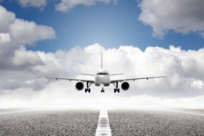Fototapete Start Flugzeug im Flughafen