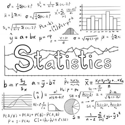 Statistik mathe formel gleichung doodle-symbol mit diagramm diagramm ...