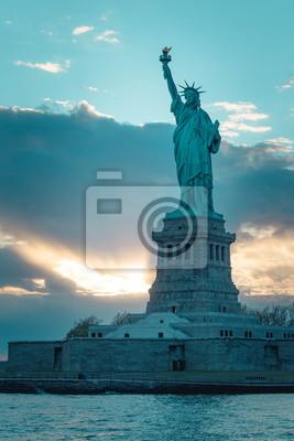 Statue of Liberty Sonnenuntergang
