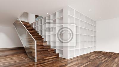 Fototapete Stauraum Idee Neben Treppe In Wohnung