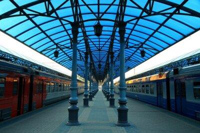 Fototapete Stazione ferroviaria Jaroslavskij
