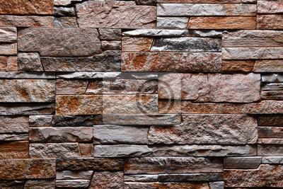Fototapete Stein Grau Braun Orange Wand Textur Hintergrund Natürliche Farbe
