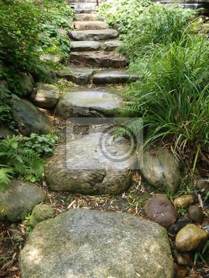 Steintreppe In Einem Garten Fototapete Fototapeten Park Wache