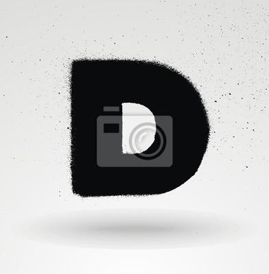 Stencil Spray Lack Schriftart. Detaillierte Vektor-Alphabet