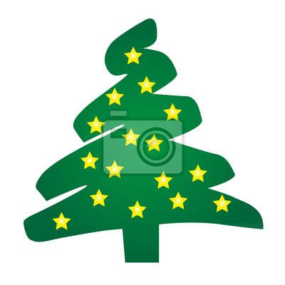 Sterne Für Weihnachtsbaum.Fototapete Sterne Grün Weihnachtsbaum